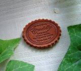 【卸・受注生産】[30×40]革・スカラップスクリプトCuddly(チョコ茶)50枚