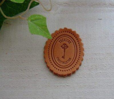 画像1:  [40×30]革・スカラップ鍵(ナチュラル)
