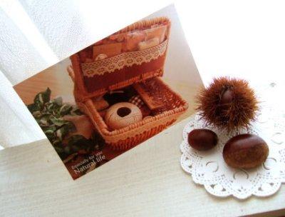 画像1: 【ASHIATOYA】オリジナルポストカード『かご』