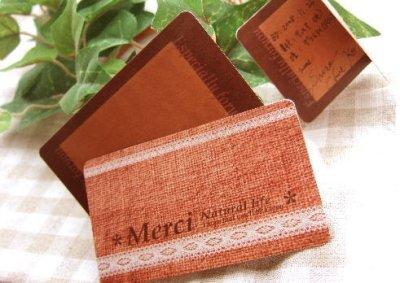 画像1: リネン柄カード※オリジナル商品