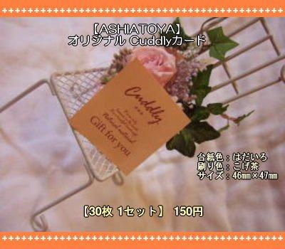 画像1: 【ASHIATOYA】オリジナルCuddlyカード(フレッシュ)