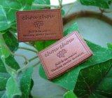 【HAPPY!】≪卸・受注生産≫[24×34]革・四葉のクローバーchouchou(チョコ茶)200枚