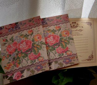 画像1: 【ASHIATOYA】オリジナル花柄系生地の一言便せん♪