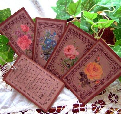 画像1: コンパクトサイズのミニカード4種8枚セット※オリジナル商品