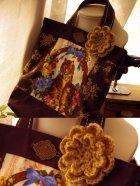 他の写真1: 【ASHIATOYA】オリジナル手編みのモチーフ(チョコ)