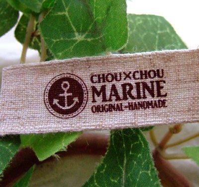 画像1: [20×60]リネン・白抜き CHOUCHOU MARINE