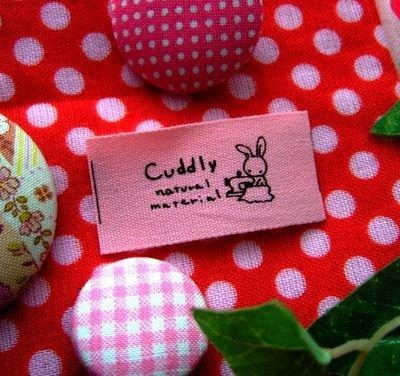 画像1: 【HAPPY!】[20×40]ピンク・うさぎCuddly